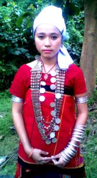A young Chakma girl in the Chakma traditional dress
