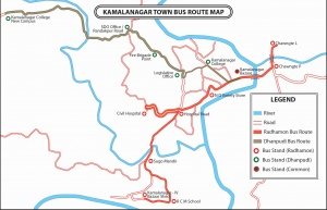 Route Map of Kamalanagar Town Bus